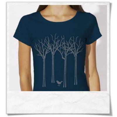 Vogel im Wald / Damen T-Shirt