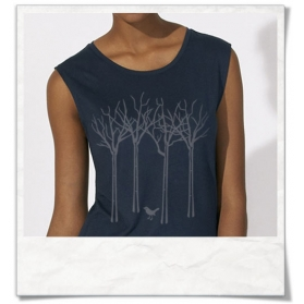 Vogel im Wald ärmelloses T-Shirt