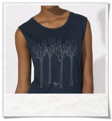 Vogel im Wald / Damen Ärmelloses T-Shirt