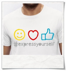 Emojis T-Shirt Express yourself / Männer T-Shirt