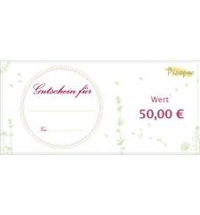 Gutschein für öko Geschencke im Wert von 50 €