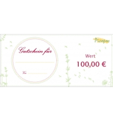 Gift voucher for eco fashion by Picopoc