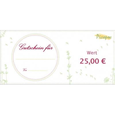 Gutschein für öko Geschencke in wert von 25 €