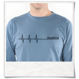 Deadline Longsleeve T-Shirt in Blue