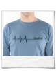 Deadline Langarm T-Shirt in Blau