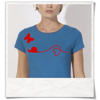 Butterfly and snail women T-Shirt