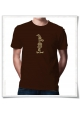 Kein Bock / men T-Shirt / Brown / Fair Organic and Eco