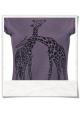 Giraffe women T-Shirt / Violet