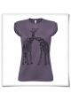 Giaffe / Giraffen / Frauen T-Shirt / Damen Shirt / Fair trade in lila