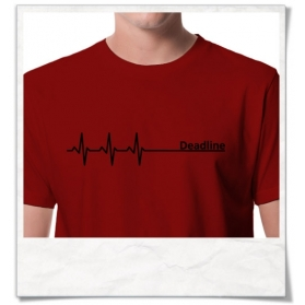 Deadline T-Shirt in rot