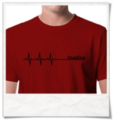 Deadline ;) men T-Shirt / Red / Fair Organic and Eco
