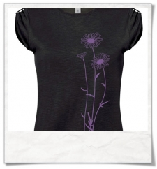 Flowers T-Shirt women T-Shirt / Black / Fair Wear