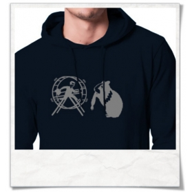 The Hamster and the hamster wheel :) Hoodie