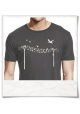 Birds on a wire / men T-Shirt / Grey