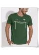 Vögel auf Stromast / Herren T-Shirt