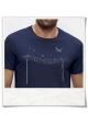 Männer T-Shirt Vögel auf einem Elektromast