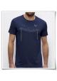 Herren T-Shirt Vögel auf einem Elektromast