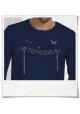 Langarm T-Shirt Vögel au Strommast für Männer