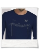 Longsleeve men T-Shirt birds on wire