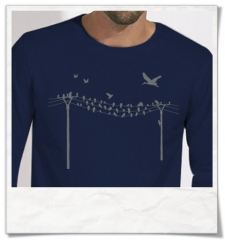 Birds on a wire Longsleeve T-Shirt