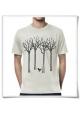 Vogel im Wald / Männer T-Shirt / Grau