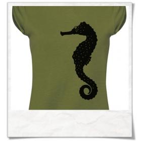 Damen T-Shirt Seepferdchen