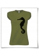 Seahorse T-Shirt for women in green