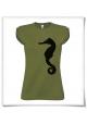 T-Shirt Seepferdchen in Grün für Frauen