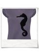 T-Shirt Seepferdchen in Lila für Frauen