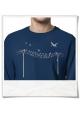 Sweatshirt Vögel au Strommast für Männer aus Biobaumwolle