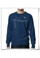 Men's Sweatshirt Birds on wire ( organic and fair )