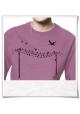 Sweatshirt aus Biobaumwolle Vögel au Strommast