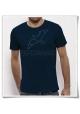 T-Shirt Möwe / Möwen in blau fair hergestellt & aus Biobaumwolle