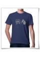 Hamster / Hamsterrad / Männer T-Shirt / Blau / Fair Bio und Öko