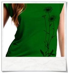 Blumen T-Shirt aus Bambus und Biobaumwolle