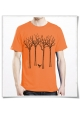 The bird in the forest / men's T-Shirt / Organic cotton