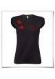 T-Shirt Schnecke und Schmetterling fair produziert in schwarz