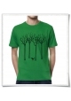 The bird in the forest / men T-Shirt in green / Fair, Eco & Organic