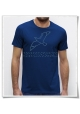 T-Shirt ( fair produced & organic cotton ) Seagull / Seagulls in blue