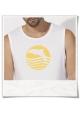 T-Shirt Dolphin Sun Sea for men in white