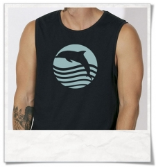 Sleeveles Shirt Dolphin Sunset Fair Wear & Organic Cotton