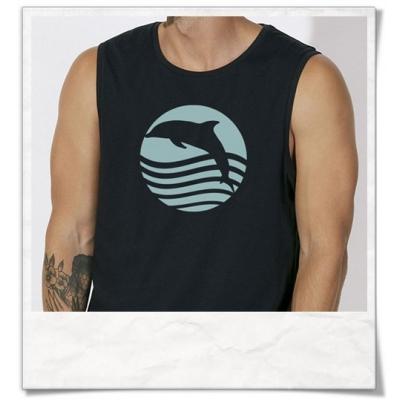 Ärmelloses T-Shirt Delfin / Delphin für Männer