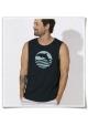 Ärmelloses T-Shirt Delfin / Delphin Sonnenuntegang für Männer