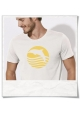 T-Shirt Dolphin Sun Sea for men in white