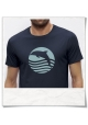 T-Shirt Dolphin Sun Sea for men in blue