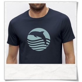 Dolphin Sunset T-Shirt , Organic Cotton & Fair Wear