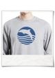 Sweatshirt Sonnenuntergang mit Delfin für Männer aus Biobaumwolle
