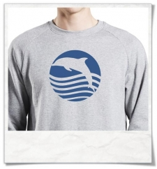 "Sweatshirt, fair & organic "" Sunset with Dolphin """