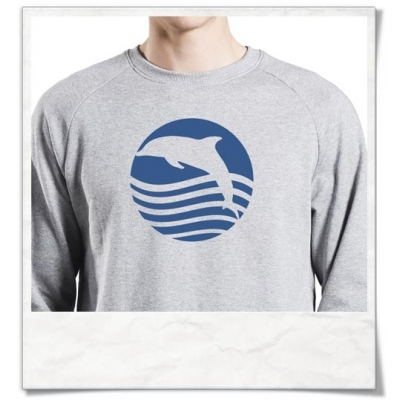 Sweatshirt Dolphin ( organic cotton and fair produced )