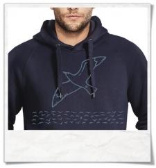 Hoodie / Hoody Seagull / men Hoodie / Grau / Fair Organic and Eco